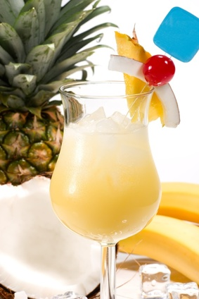 A Pina Colada cocktail